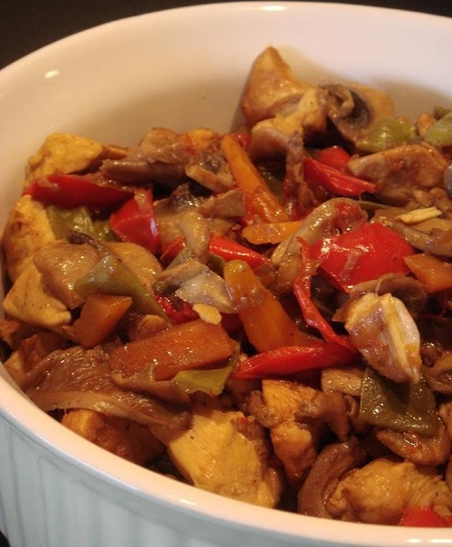 рецепт курица овощи соевый соус
