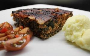 Мясная запеканка со шпинатом в мультиварке скороварке