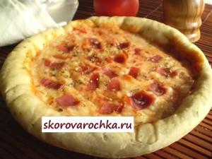 пицца в скороварке мультиварке