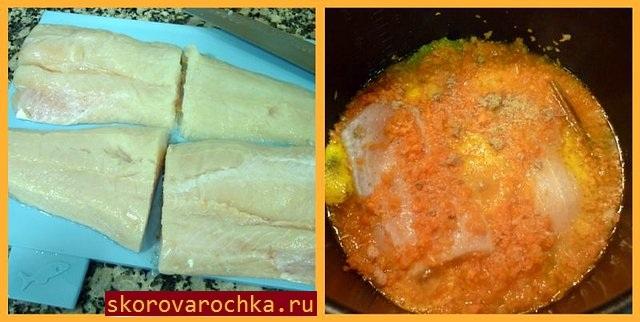 Хек в соусе из апельсинового сока