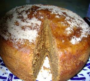 тыквенный пирог с кокосовой стружкой и грецкими орехами в мультиварке скороварке