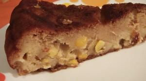 Наливной кукурузный пирог на кефире