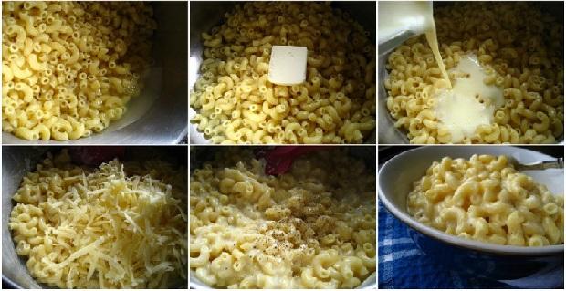 Макароны с сыром в мультиварке скороварке