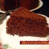 Шоколадный кекс без яиц на воде