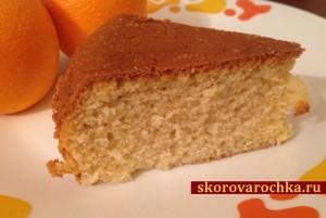 Сладкий пирог на ряженке с апельсиновой цедрой