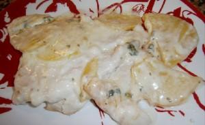 Куриная грудка с сыром и картофелем (для деток)