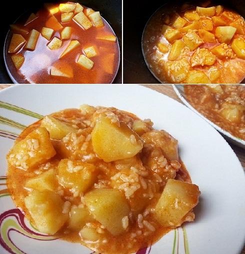 Рис с картошкой