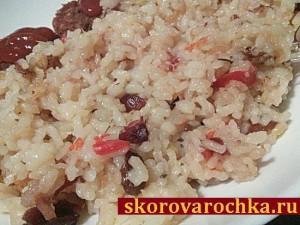 Пряный рис с изюмом