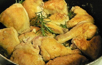 приготовление курицы с лимоном