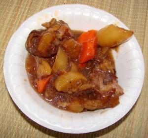 Свиные ребрышки в сладком соусе