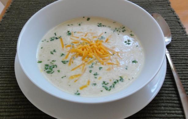 Картофельный суп-пюре со сливочным сыром