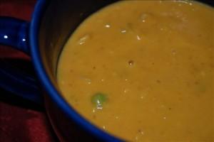 Суп из тыквы с имбирем и сельдереем