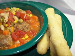 Суп с фрикадельками в мультиварке скороварке