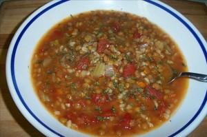 Суп перловый вегетарианский в мультиварке скороварке