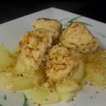 Маринованные куриные грудки с картошкой