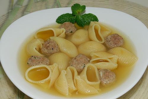 рецепт супа из говядины с рожками